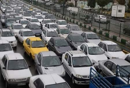 ترافیک سنگین در معابر شهری و بزرگراهی تهران