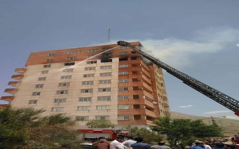 جزئیات حادثه آتش سوزی در یک برج ده طبقه