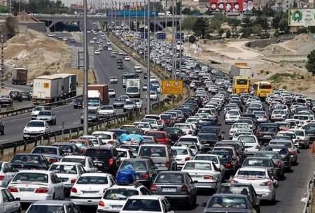 خروجیهای تهران پر ترافیک است