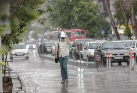 بارش پراکنده باران در این ۴ استان کشور