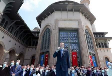 اردوغان مسجد تقسیم را افتتاح کرد