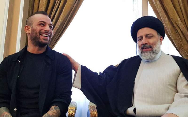 حمایت امیر تتلو از ابراهیم رئیسی/عکس