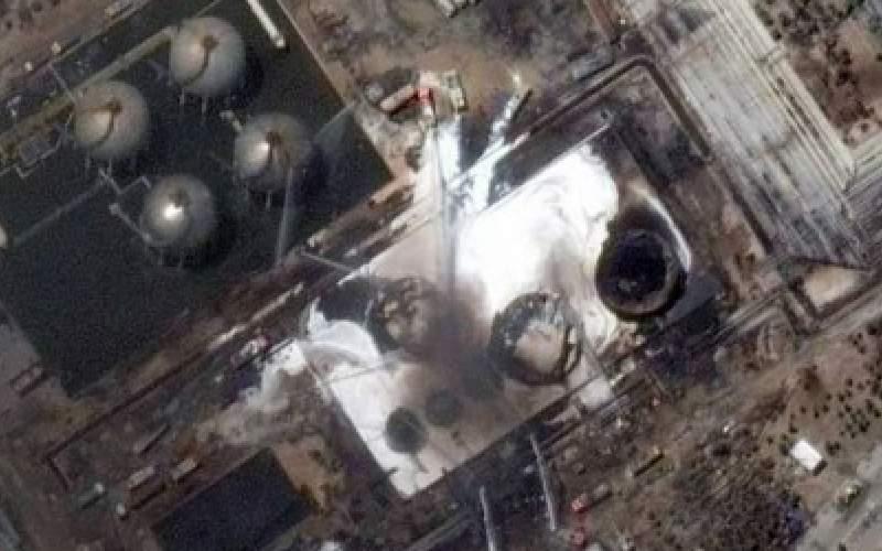 تصویر ماهوارهای از قبل و بعدِ حریق پالایشگاه