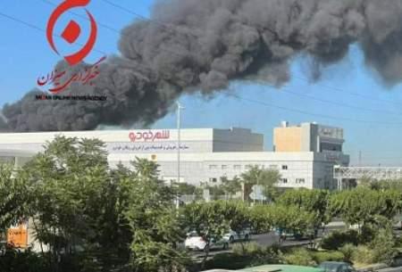 آتشسوزی گسترده در غرب تهران/فیلم