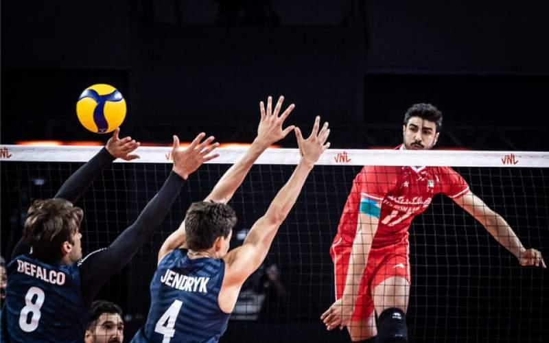 پیروزی قاطع والیبالیستهای ایران مقابل آمریکا