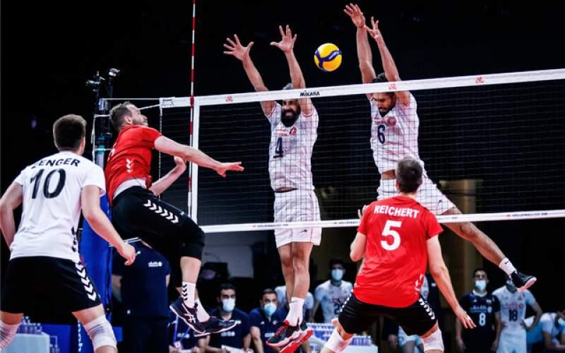 شکست والیبال ایران از آلمان با اشتباهات فردی