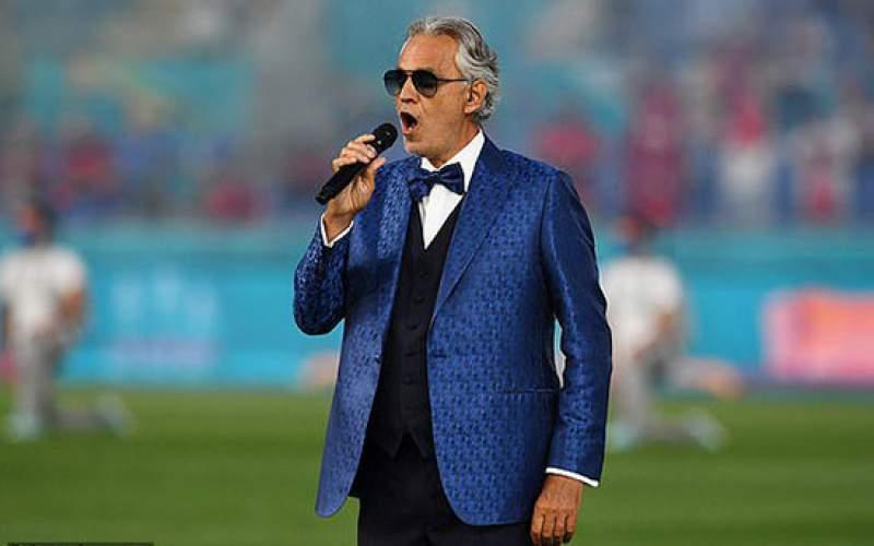هنرنمایی خواننده مشهور پیش از بازی ایتالیا