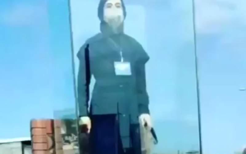نصب تندیس نرجس خانعلیزاده در گیلان