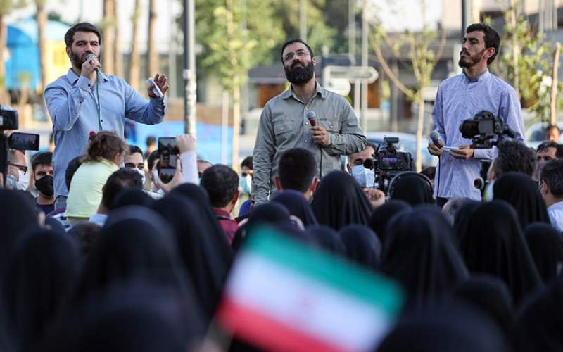 حضور انتخاباتی مداحان در خیابان