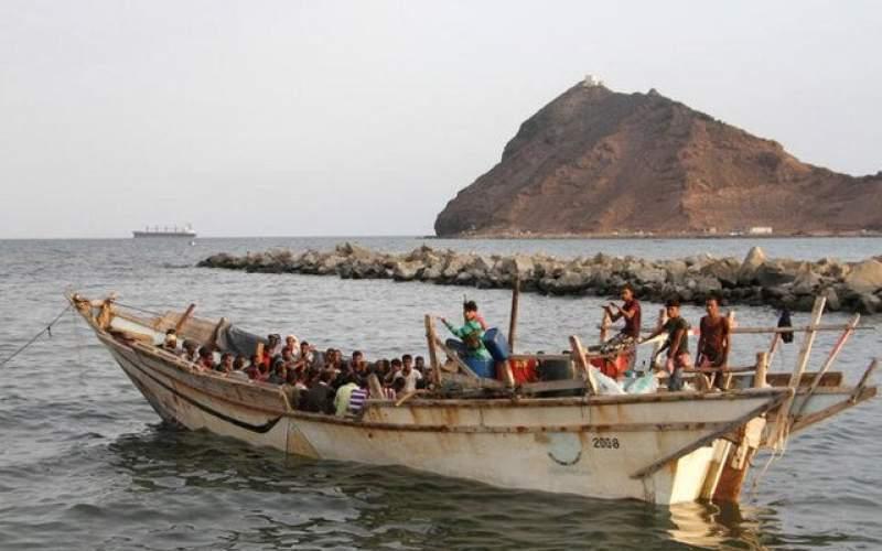 واژگونی قایق حامل مهاجران در آبهای یمن