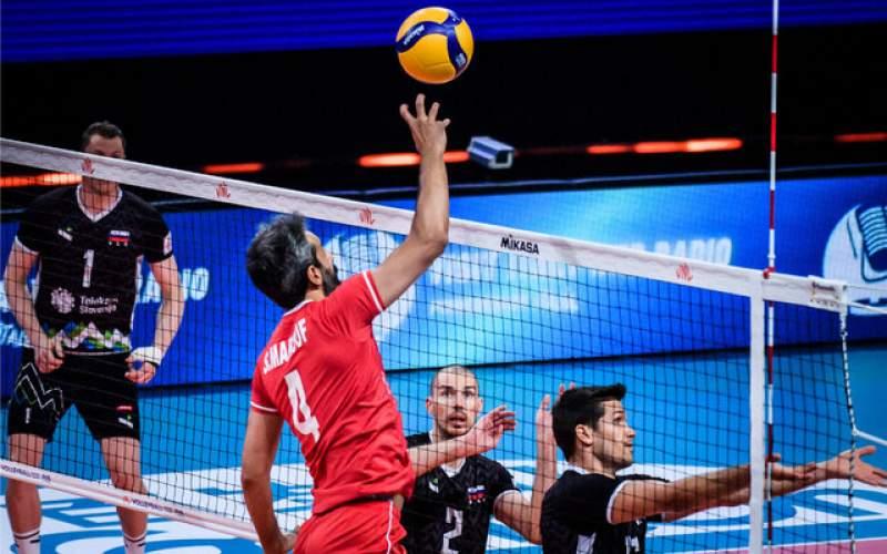 والیبالیستهای ایران به اسلوونی هم باختند