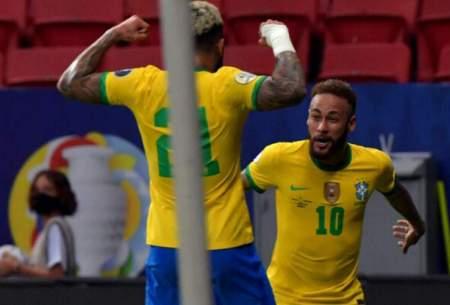 پیروزی قاطع برزیل در کوپا آمهریکا