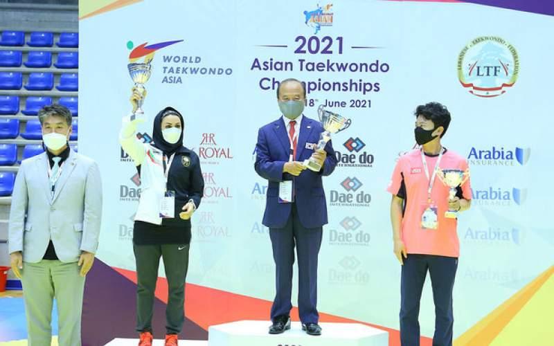 نایب قهرمانی تکواندوی بانوان ایران در آسیا