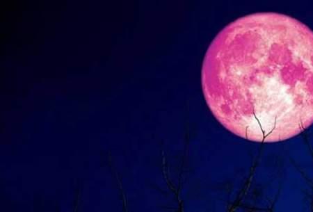 وقوع ابَر ماه «توت فرنگی» در روز پنجشنبه