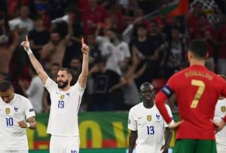صعود فرانسه و پرتغال با رکوردشکنی رونالدو