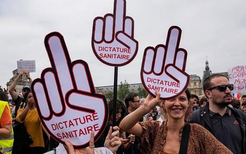 تظاهرات فرانسویها علیه واکسیناسیون اجباری