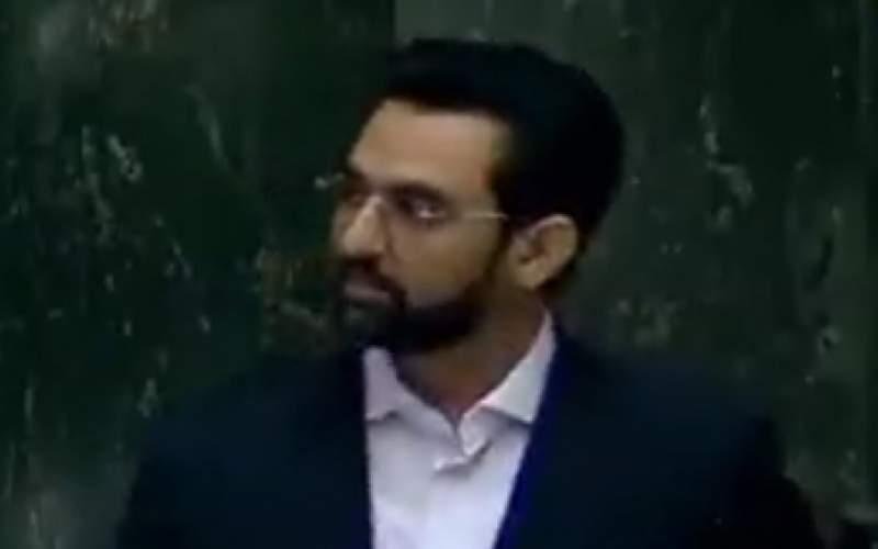 پخش اظهارات قالیباف در مجلس با موبایل جهرمی