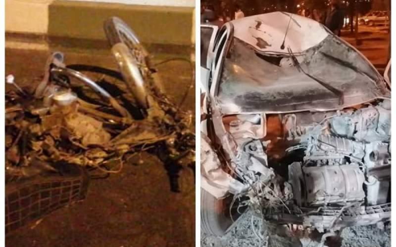 ۵ کُشته در تصادف موتورسیکلت با پژو ۲۰۶