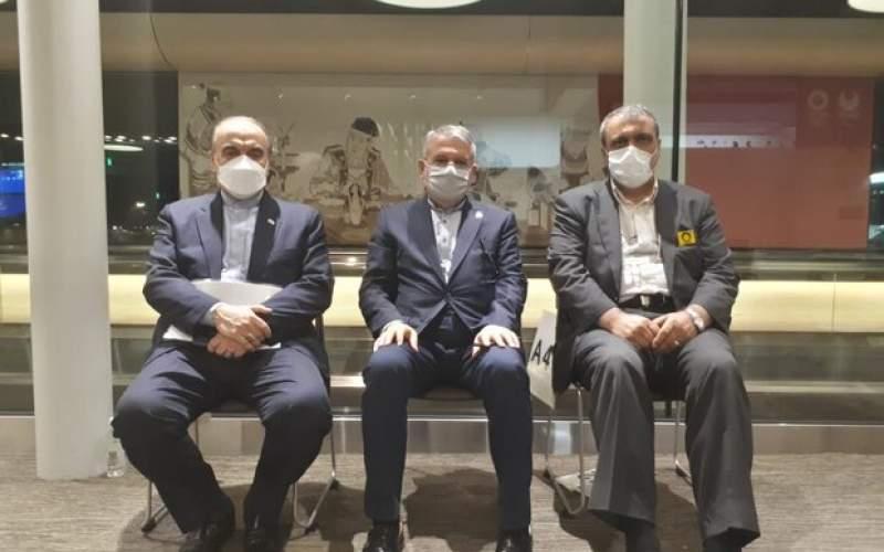 وزیر ورزش ورئیس کمیته ملی وارد توکیو شدند