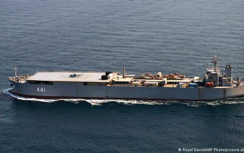 عبور دو ناو جنگی ایران از نزدیکی دانمارک