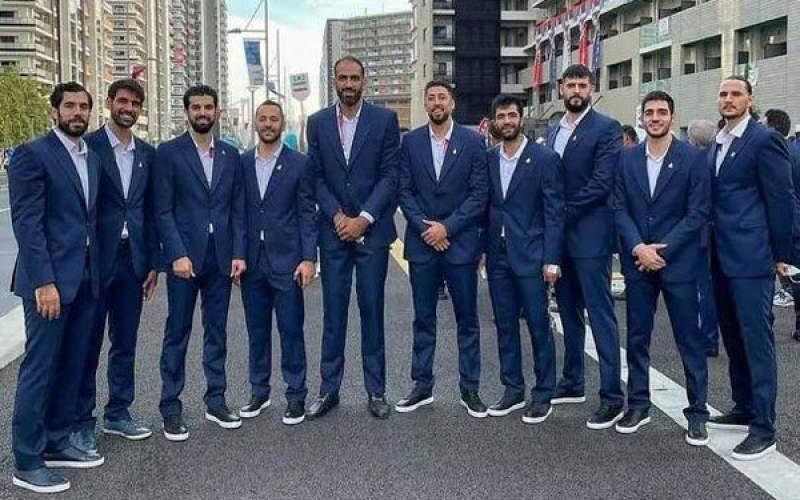 حضور یکدست تیم ملی بسکتبال در افتتاحیه