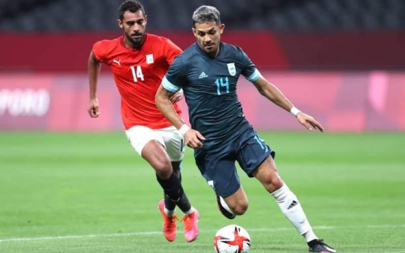 فوتبالالمپیک پیروزی سخت آرژانتین برابر مصر