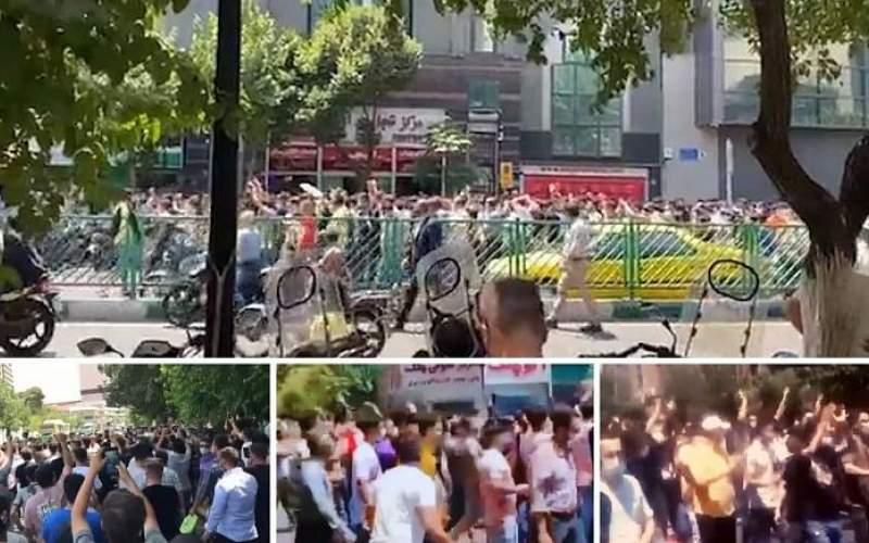 تجمع در مرکز تهران با سر دادن شعارهای تند