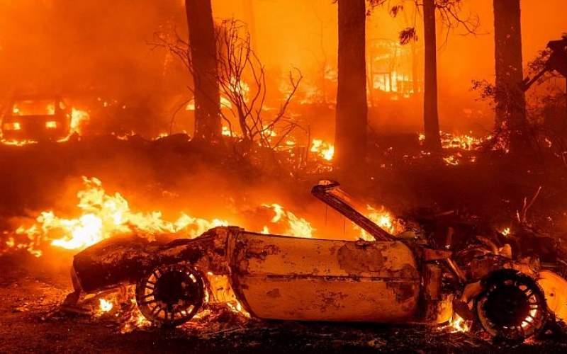 فاجعه در  کالیفرنیا با یك  آتش سوزی بزرگ