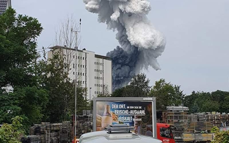 انفجار مهیب در کارخانه مواد شیمیایی در آلمان