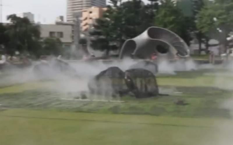 شیوه جالب ژاپنیها برای خنک کردن پارکها