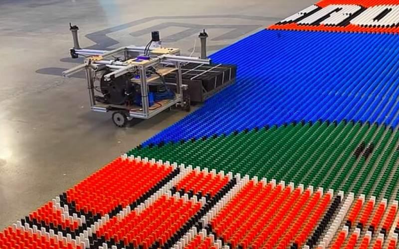 ساخت ربات رکوردشکن  دومینو چین