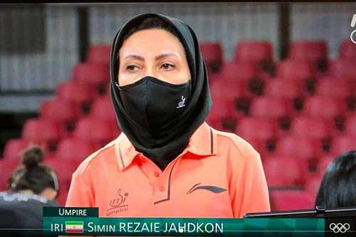 درخشش تنها داور کاروان ایران در المپیک