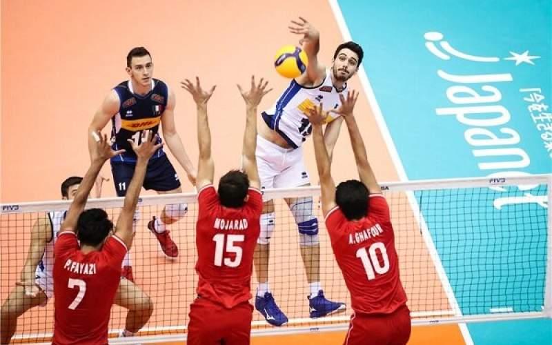نبرد نفس گیر والیبال ایران و ایتالیا برای صعود