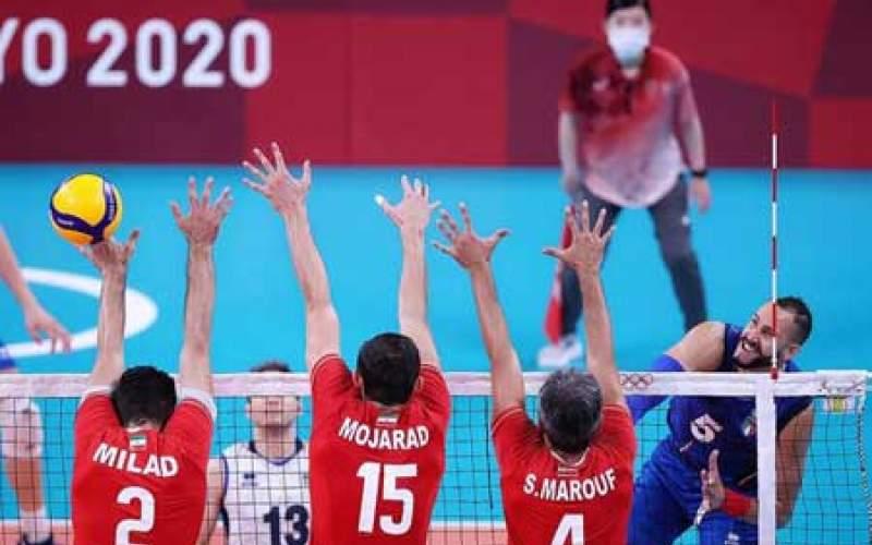 شکست تیم والیبال ایران مقابل ایتالیا