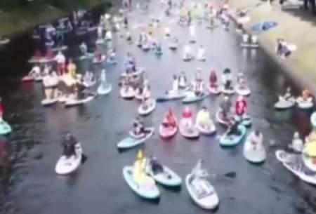 جشنواره قایقرانی در سنپترزبورگ روسیه