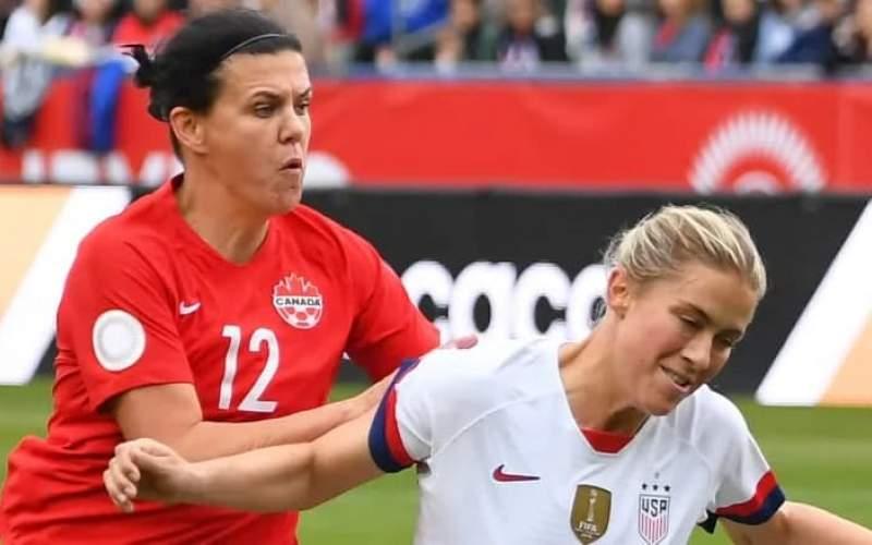 فوتبال زنان؛ شکست آمریکا از کانادا در نیمهنهایی