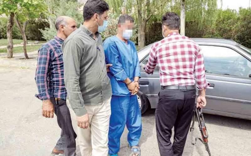 مرد جنایتکار صحنه قتل همسرش را بازسازی کرد