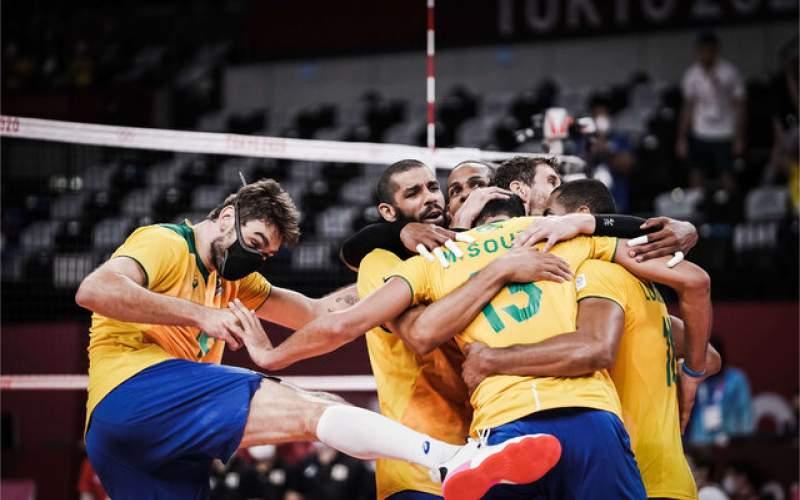 ساموراییها مقابل والیبال برزیل زانو زدند