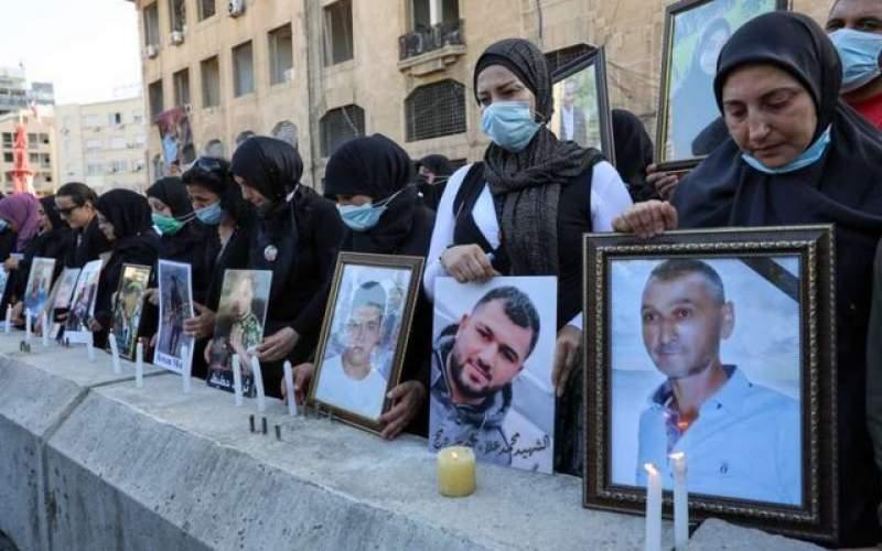 تجمع اعتراضی خانوادههای قربانیان بیروت