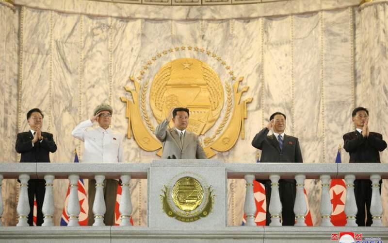 حضور رهبر کره شمالی در رژه نظامی