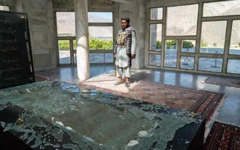 تخریب مرقد شهید احمدشاه مسعود (قهرمان ملی افغانستان)  توسط وحوش طالبان