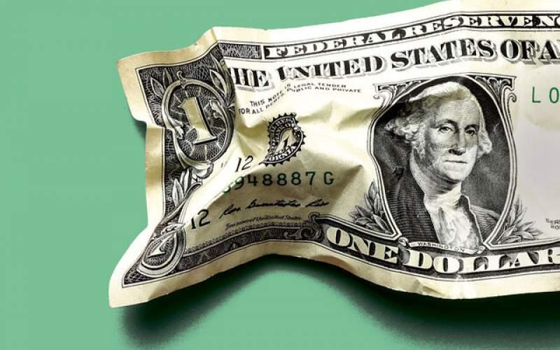 ارزش دلار  بالای پنج درصد کاهش پیدا کرد