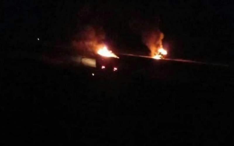 بمباران خودروهای حشدالشعبی در مرز سوریه