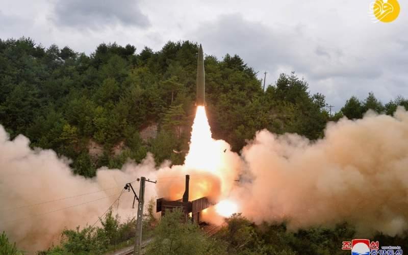 شلیک موشک از روی قطار در کره شمالی