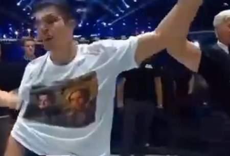حمایت قهرمان MMA از مقاومت پنجشیر/فیلم