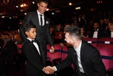 حیرت پسر رونالدو، باور نمی کنم، او مسی نیست