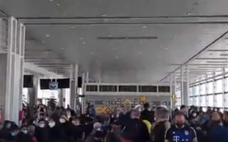 ازدحام شدید زائرین در فرودگاه امام خمینی (ره)