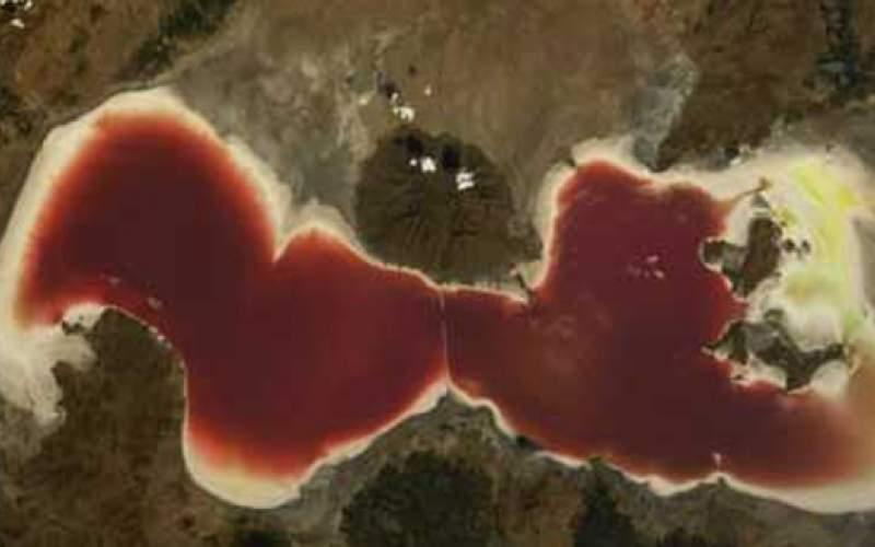 تصویر جدید ماهوارهای از دریاچه ارومیه