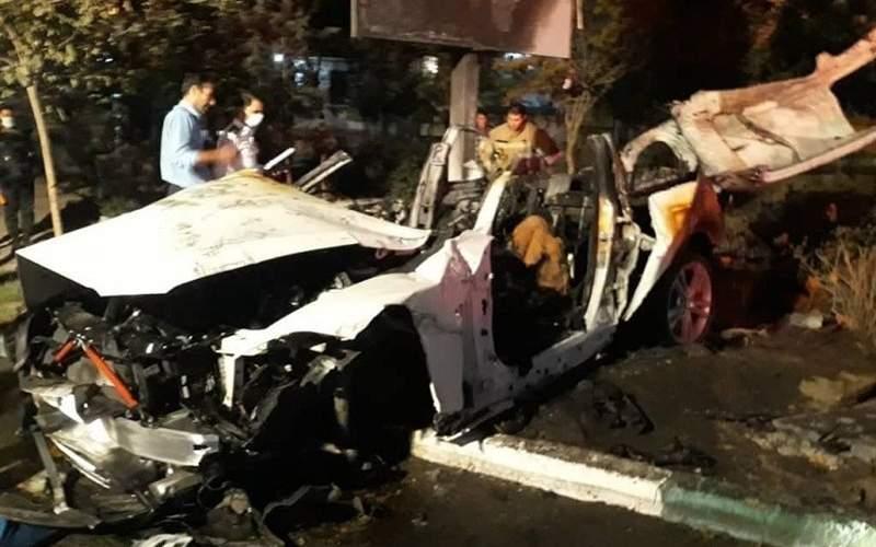 مرگ سرنشینان BMW میان شعلههای آتش