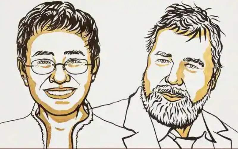 دو خبرنگار؛ برنده جایزه صلح نوبل امسال
